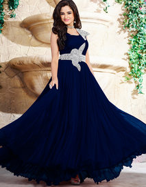 navy blue asmita sood  layered