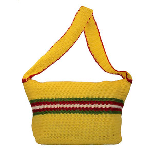 Solitary crochet shoulder handbag