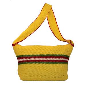 Solitary crochet shoulder handbag