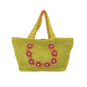 Outsized crochet shoulder handbag