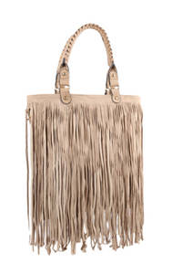 Beige fashion handbag