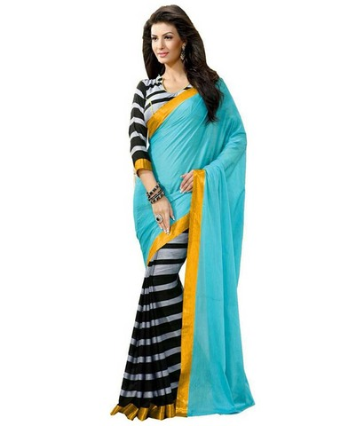 Paste designer saree
