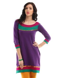 Purple salwar designer