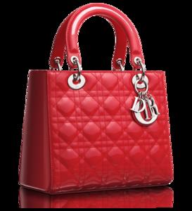 Crimson Red Patent Lady Dior Bag