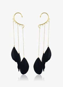 FAYON Black/Golden Alloy Earcuffs