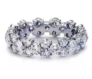 Garland Diamond Eternity Ring in Platinum