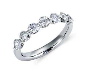 Classic Floating Diamond Ring in Platinum