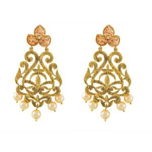 Fancy new design pearl and stone antique earring