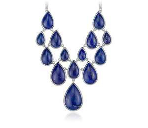 Lapis Statement Necklace in Sterling Silver
