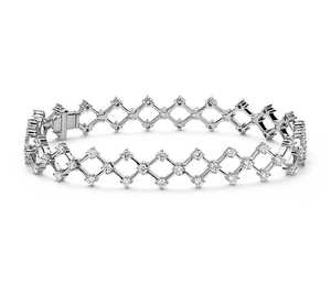 Blue Nile Studio Galaxy Diamond Bracelet in 18k White Gold