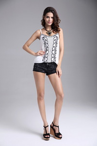 Women's Casual Camis Sleeveless Embroidery Tops