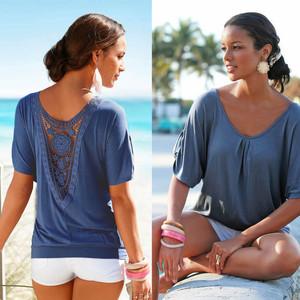 Lovebite Lace Short Sleeve plus size Blouse