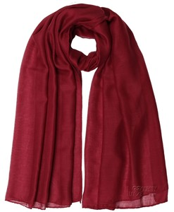 Soft Plain Berry Red Hijab