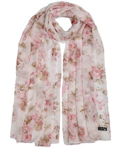 ILM Soft Pink Foral Rose Hijab