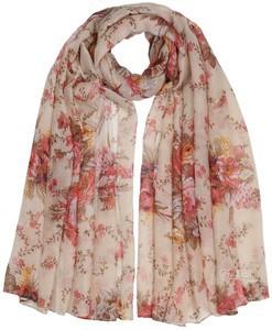 Coral Rose Floral Print Maxi Hijab