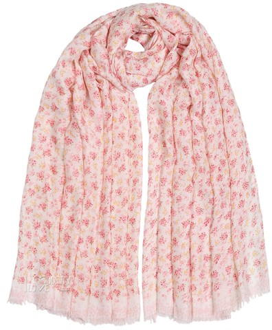 Light and Soft Pink Floral Maxi Hijab