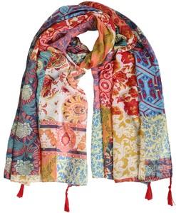 Vintage Multi Print Tassel Maxi Hijab