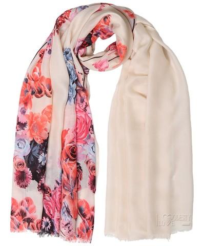 Cream Rose Swirl Hijab