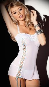 Lovebite white lace lingerie Halter bow design Nightwear