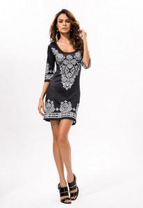 Lovebite Casual Print Elastic Sheath Women Summer Mini Dress
