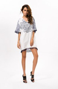 Lovebitebd Bohemian Floral Print Short Mini Dress For Women