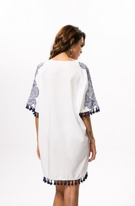 Lovebite Bohemian Floral Print Summer Short Batwing Sleeve Mini Dress