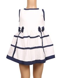 The Babyshop Cotton Frock for Girls - Black and White