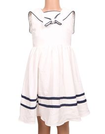 The Babyshop Georgette Frock for Girls - Black and White