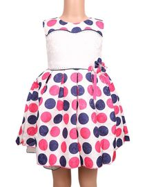 The Babyshop Polyester Frock for Girls - Multicolor