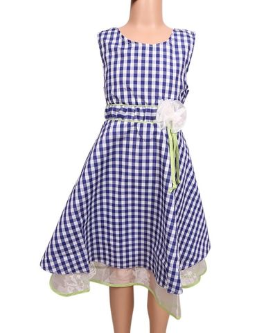 The Babyshop The Babyshop Cotton Frock for Girls - Blue and White Check