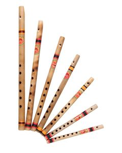 Professional Bamboo Whistle Flutes Set - 7pcs 4.40 Tuned