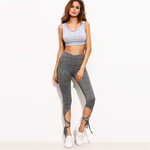 Lovebitebd High Waist Crisscross Tie Fitness Elastic Leggings For Women
