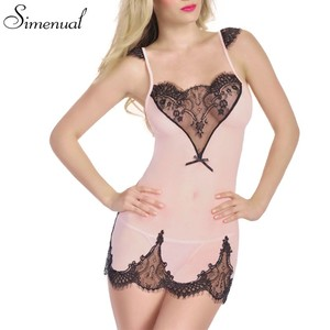 Lovebitebd Erotic Hot Pink Mini Nightwear Sleepwear For Women