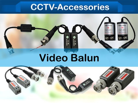 CCTV video balun at distances up to 300 meters when used with any passive transceiver