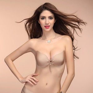 Lovebitebd  Invisible Strapless Push Up Adhesive Silicone Bras For Women