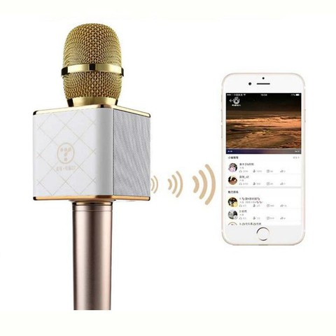 Q7 Wireless Bluetooth KTV Karaoke Microphone Speaker