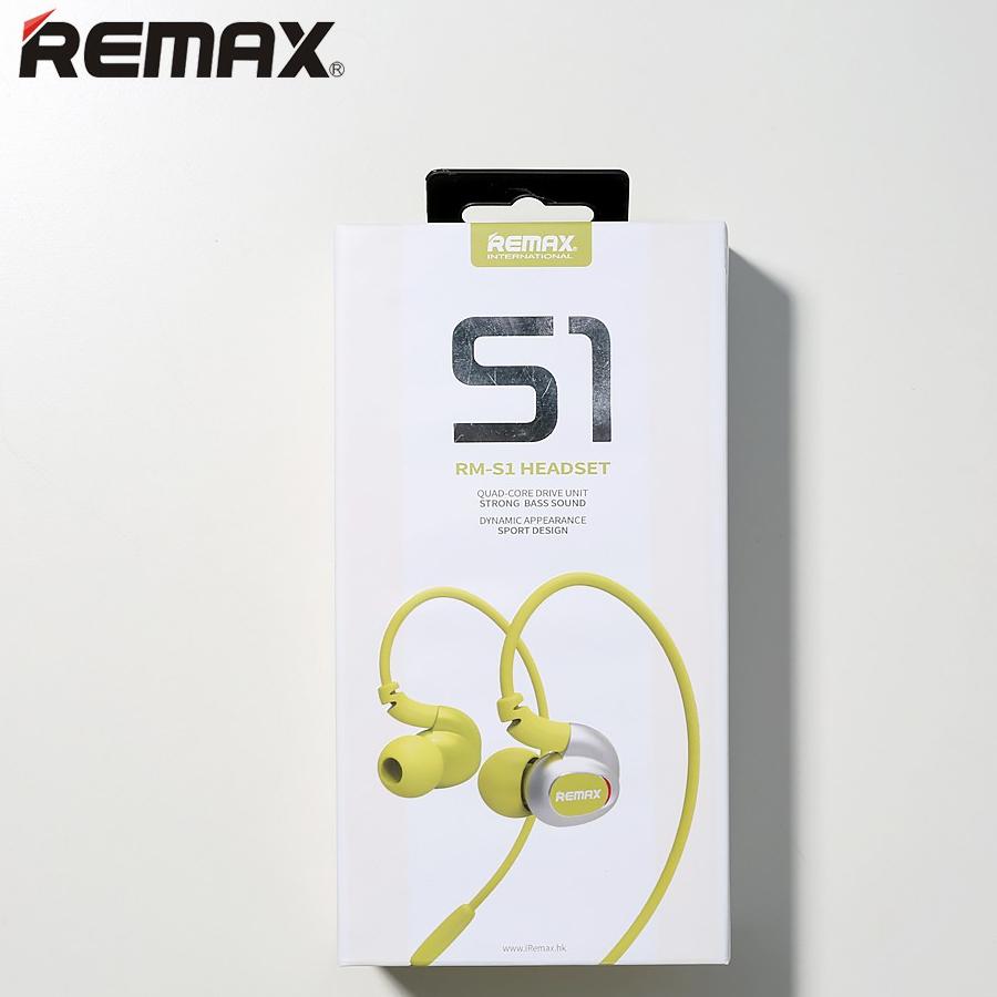 Original Remax Rm S1 Headphone Pro Sport In Ear Earphone Widget Bin