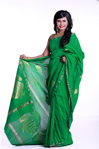 Tangail Handloom Half Silk Saree