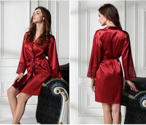 Lovebite women's lace sexy silk sleepwear bathrobes lounge