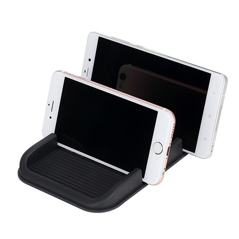 Rock Car Mount Non-slip Mat Dual Slot