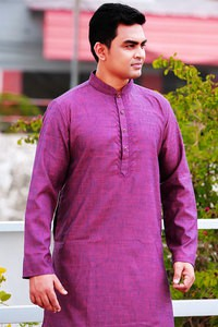 Sultan Maroon Mixed Long Panjabi