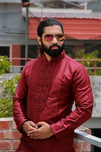 Maroon Long Panjabi
