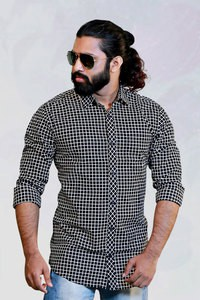 Esprit Black Check Slim Fit Casual Shirt