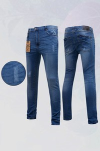 American Eagle Sky-blue Washed Semi Stress Jeans