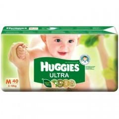 Huggies Baby Diaper Ultra M (5-10 kg) (হাগিস বেবী ডাইপার আল্ট্রা) - 40pcs