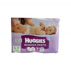 Huggies Baby Diaper Wonder Pants S (4-8 kg) (হাগিস বেবী ডাইপার ওয়ান্ডার প্যান্টস) - 18pcs