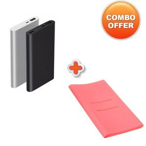Combo Offer 10000mah V2 Mi Powerbank With Silicone Case