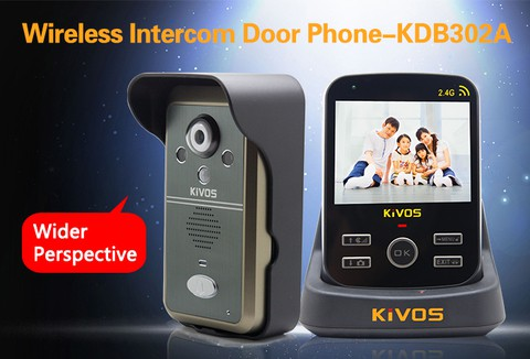 Wireless video door phone is 300meters wireless in open area, with 3.5''TFT screen