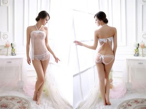 Lovebitebd Transparent Lace Nightwear Sleepwear For Women