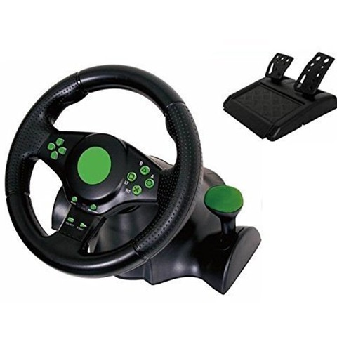 Vibration Racing Steering Wheel and Pedals